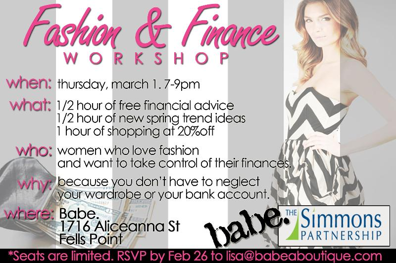 Fashion & Finance Seminar Mar 1
