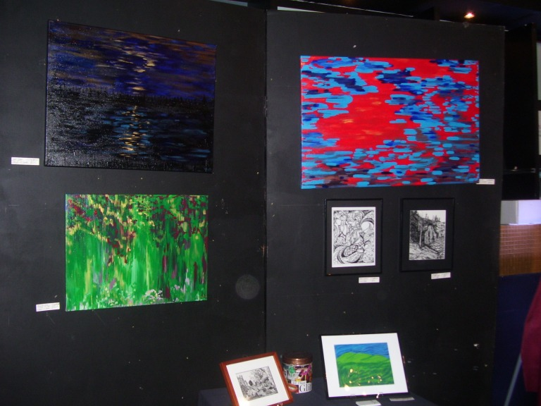 Jessica Engelbrecht art displayed at Raw Awards 2013. (Photo by Paulette W).