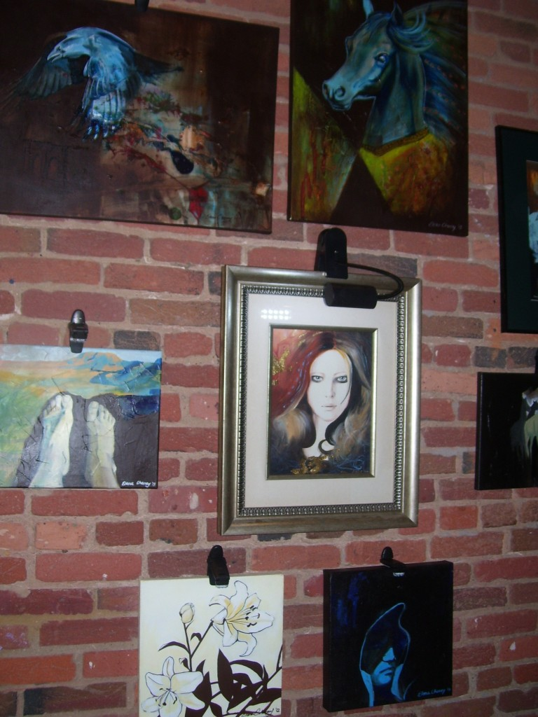 Elena Cheney art displayed at Raw Awards 2013. (Photo by Paulette W.).