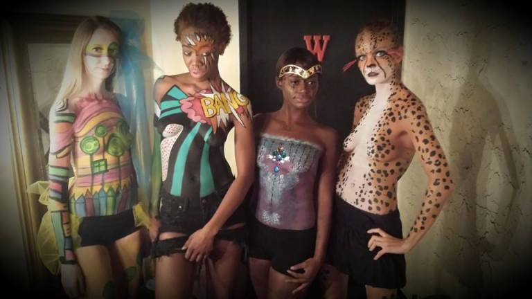 (Models displaying makeup by Christine Cots at Raw Awards 2013).