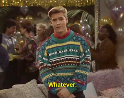 What's the Dillo with Sweater Swag? Zach from Saved by the Bell Source: Rebloggy